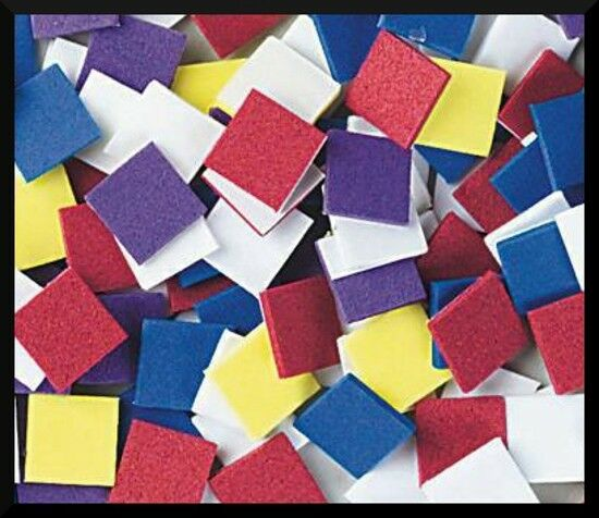 100 foam mosaic square stickers shapes 1 2 abcraft school art craft