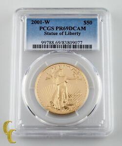 2001-W Gold American Eagle 1 oz Graded by PCGS PR69DCAM pcgs Error Label