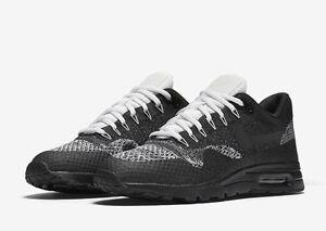 Détails sur Women's Nike Air Max 1 Ultra Flyknit Black White Oreo Taille UK 4.5 859517 001 afficher le titre d'origine