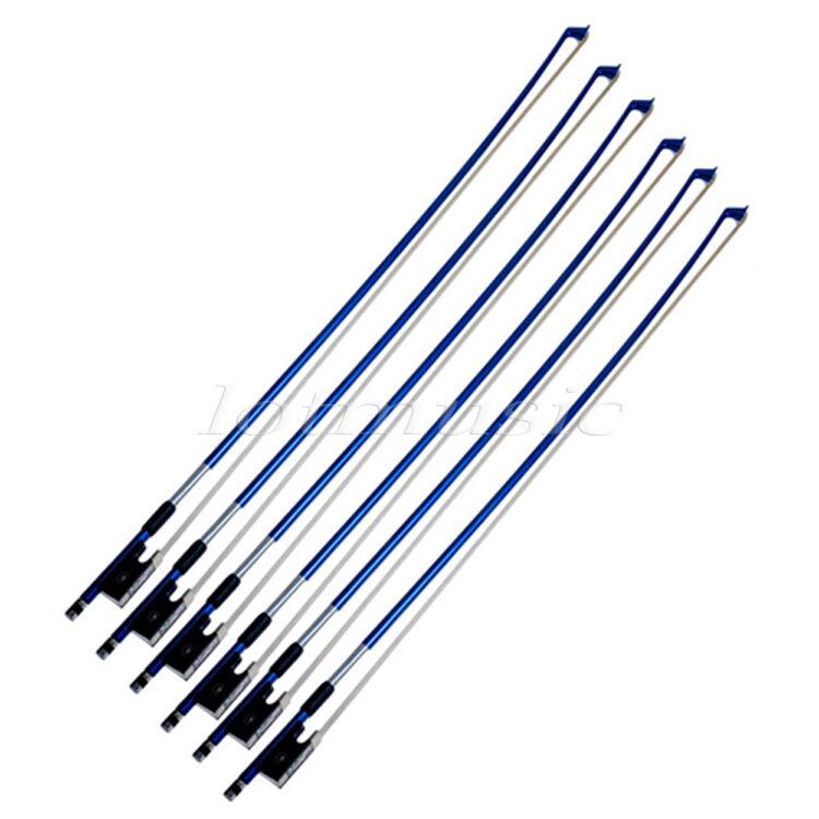6Pcs Violin Bows Carbon FIber Violin Bows 3 4 Stunning Violin Bows bluee