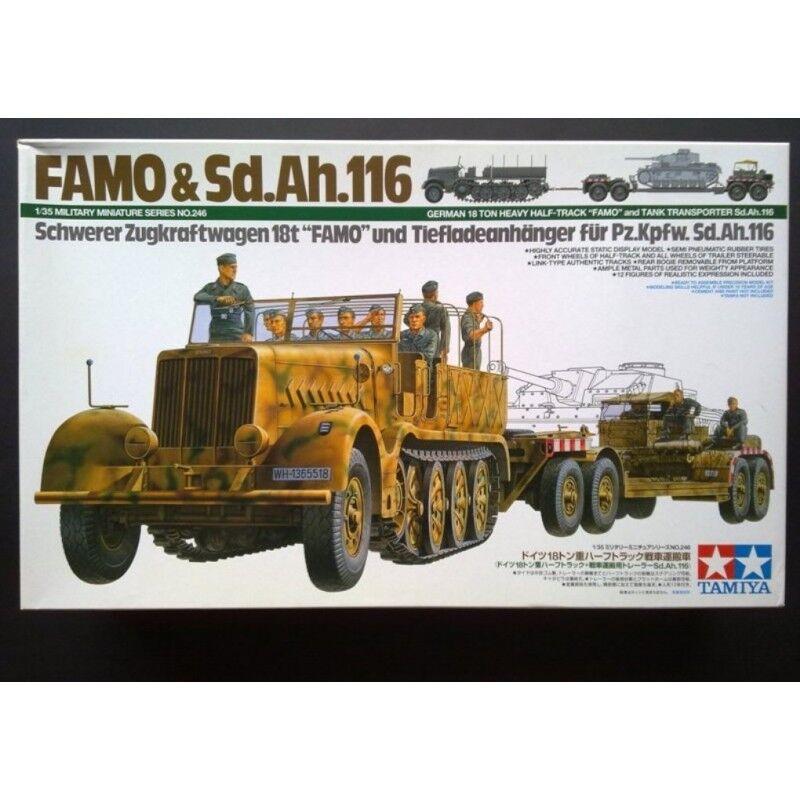Tamiya 1 35 scale FAMO and Tank Transporter
