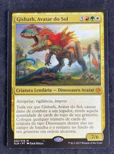 MTG Magic The Gathering Gishath Sun/'s Avatar Ixalan Portuguese NM