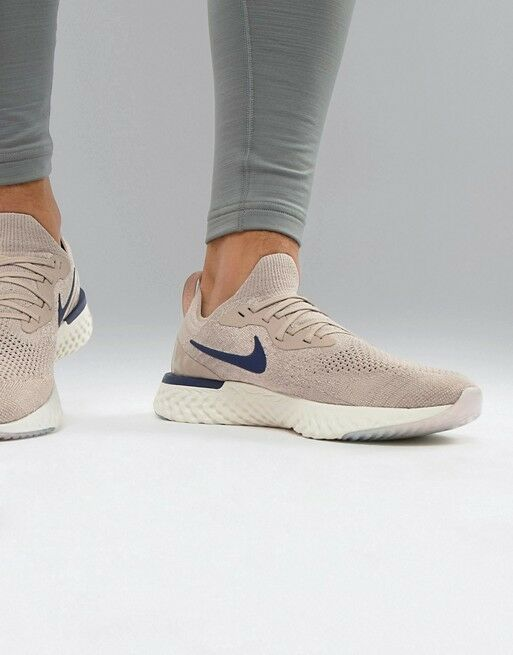 NIKE EPIC REACT FLYKNIT DIFFUSED Taupe  (AQ0067 201) Hommes paniers UK 9 EU 44