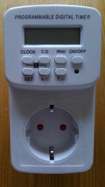 mumbi Zeitschaltuhr digital Steckdose Wochenzeitschaltuhr 3600W Timer Innen