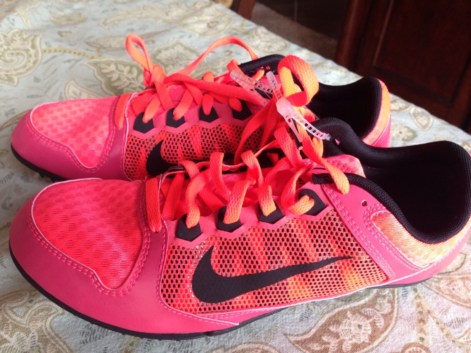 Nike Zoom Rival MD Infrared Pink Pink Infrared Mens Size 11.5 Multi Purpose Cleats Track 4911f1