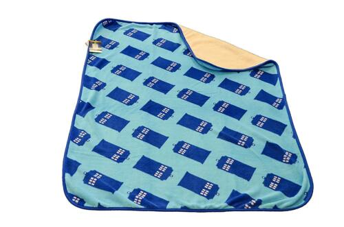 OFFICIAL DR DOCTOR WHO TARDIS POLICE BOX THROW SOFT FLEECE BLANKET NEW WITH TAGS