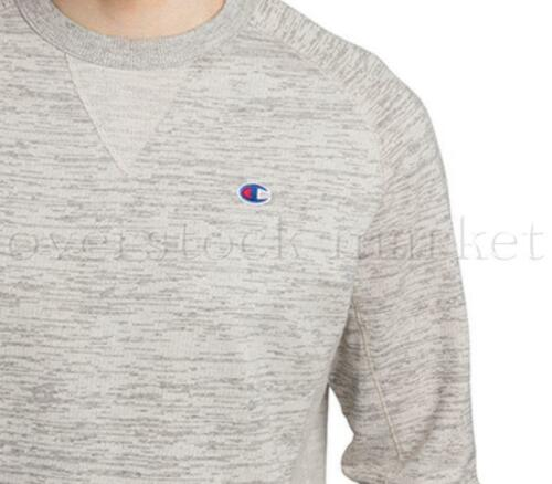 NEW MENS CHAMPION TEXTURED FRENCH TERRY CREW NECK SWEATSHIRT PULLOVER VARIETY