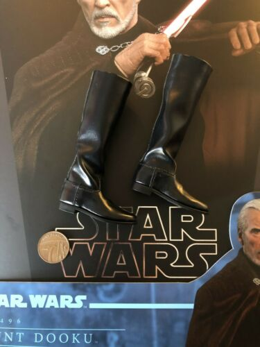 Hot Toys STAR WARS AOTC Comte Dooku MMS496 tall bottes noires loose échelle 1//6th