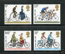 Great Britain Complete MNH Set #843-846 Cycling Stamps