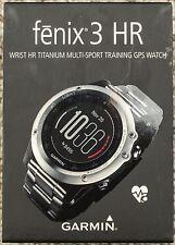 ***BRAND NEW + FREE SHIP*** Garmin Fenix 3 HR GPS Watch - Titanium & Sport Bands