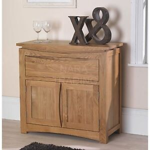 Details about Crescent solid oak dining room furniture small storage buffet  sideboard