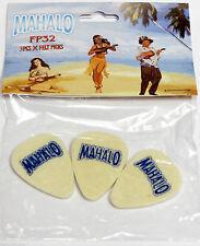 Mahalo Feltro Contenitore Plettro per Ukulele,Banjo & Chitarra confezione da tre