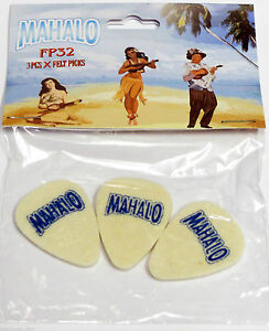 Mahalo Felt Pick Plectrum for Ukulele , Banjo & Guitar Pack of Three
