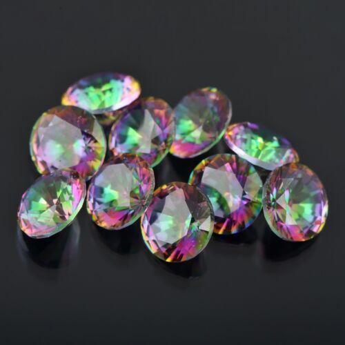 Details about  /Natural Mystic Quartz Calibrated Size 4mm 5mm 6mm Round Cut Rainbow Color Loose