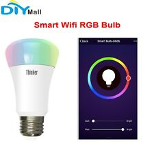 DIYmall Smart Home Wifi RGB Light Bulb Wireless Dimmable RGBW LED Lamp 6W E27