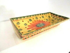 ITALICA-ARS-ITALY-HAND-PAINTED-Footed-Fruit-Holder-Serving-Platter-Bowl-15-034