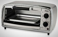 Stainless Steel Four Slice Toaster Oven Home Kitchen Crumb Tray Non Stick Pizza