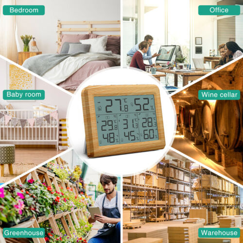 Hot Digital LCD Indoor Thermometer Hygrometer Room Temperature Humidity Meter