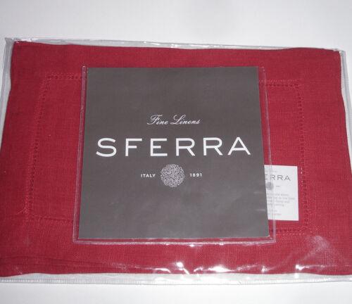 "Sferra Festival 902 Linen Cocktail Napkins Set of 4 6x9/"" New Choose Color"