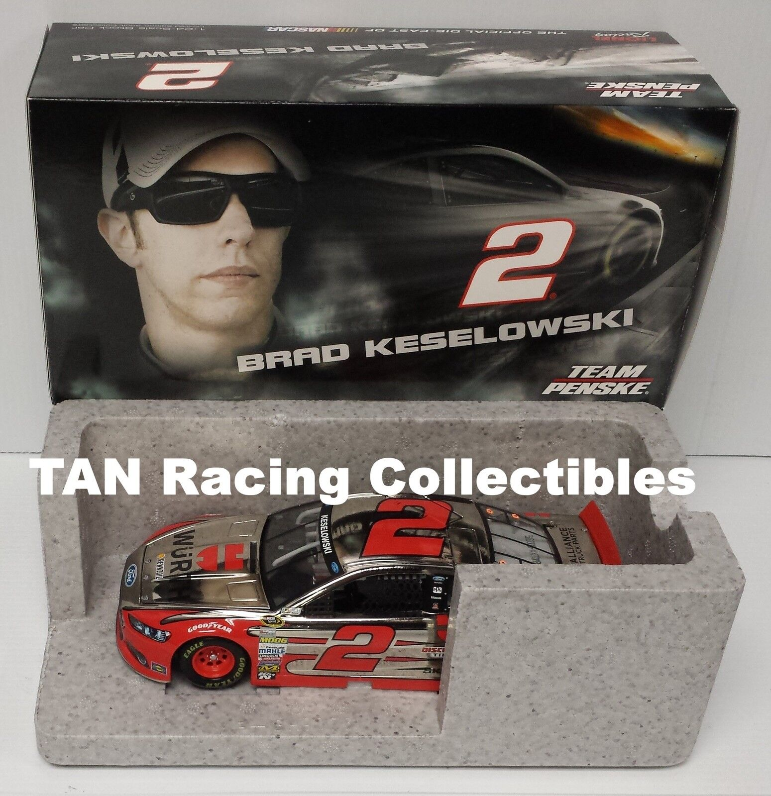 Brad Keselowski 2015 Lionel Collectibles  2 Wurth color Chrome 1 24 FREE SHIP