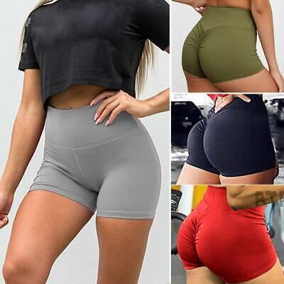Women High Waist Yoga Shorts Sports Gym Fitness Compression Butt Lift Hot Pants