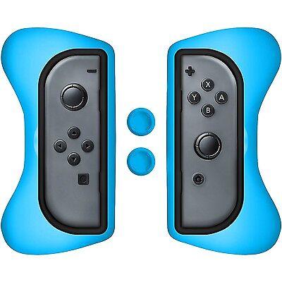 Surge Nintendo Switch Grip Kit Joy-Con Controller Case & Thumb Grips, Blue - NEW