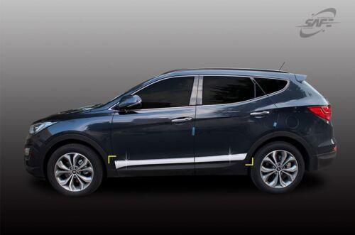 New Chrome Side Under Skirts Line Molding 4Pcs for Hyundai Santa Fe 2013-2015