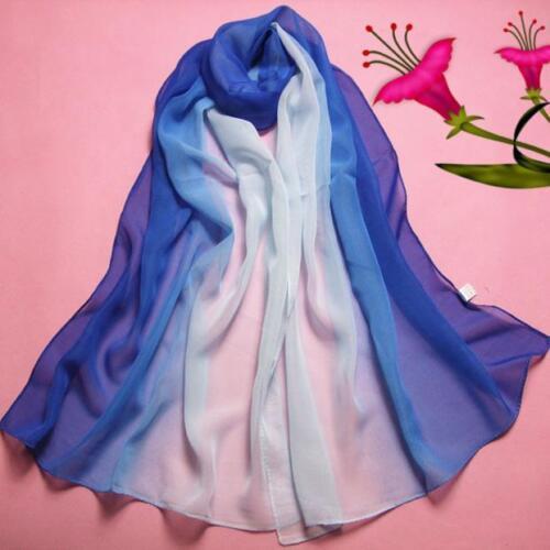 Hot 160*50CM Lady Gradient Color Long Wrap Women/'s Shawl Chiffon Scarf Scarves B