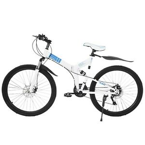 Details about  /26 In 21 Speed Mountain Bike W// Dual Disc Brakes Full Suspension Non-slip