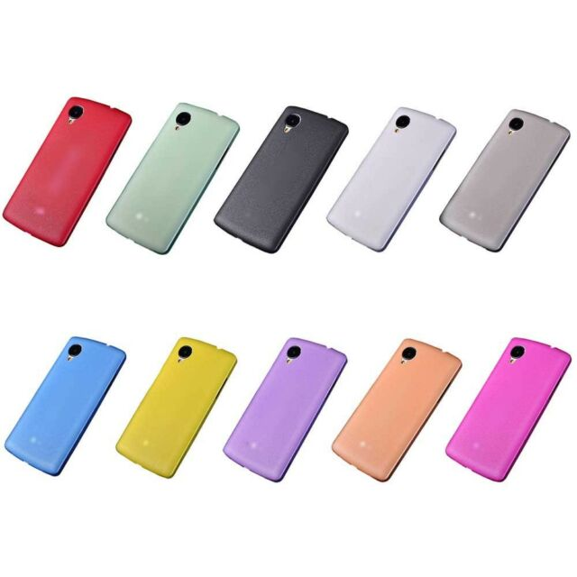 Ultra Thin Soft Matte Gel Silicon Back Case Cover for LG Google Nexus 5 E980 I