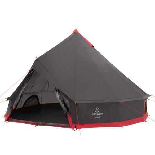 Gruppenzelt Justcamp Bell 8 Tipi, Pyramidenzelt, Campingzelt, Tipi Zelt, Grau