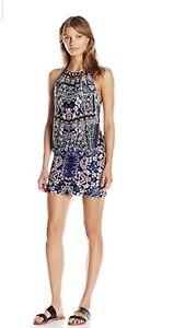 a3a4bb80db New! LAUNDRY By Shelli Segal Folk Art Blouson Swim Cover Up Dress Sz ...