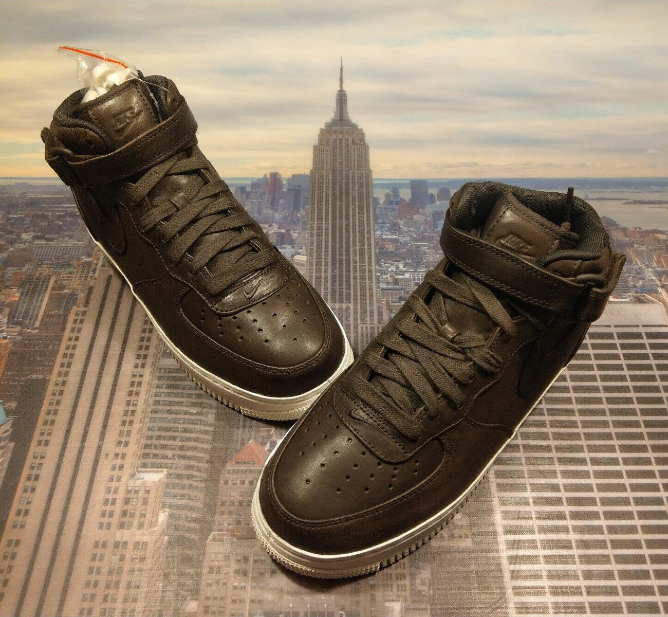 Nike NikeLab Air Force 1 Mid Velvet Brown Men's Size 7 Low High 905619 200 Lunar