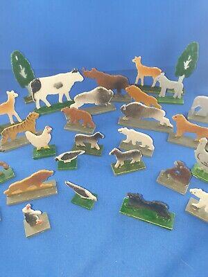 Alte Schöne Holztiere Wilde Tiere Aus Dem Zoo 30 Teilig Weniger Teuer