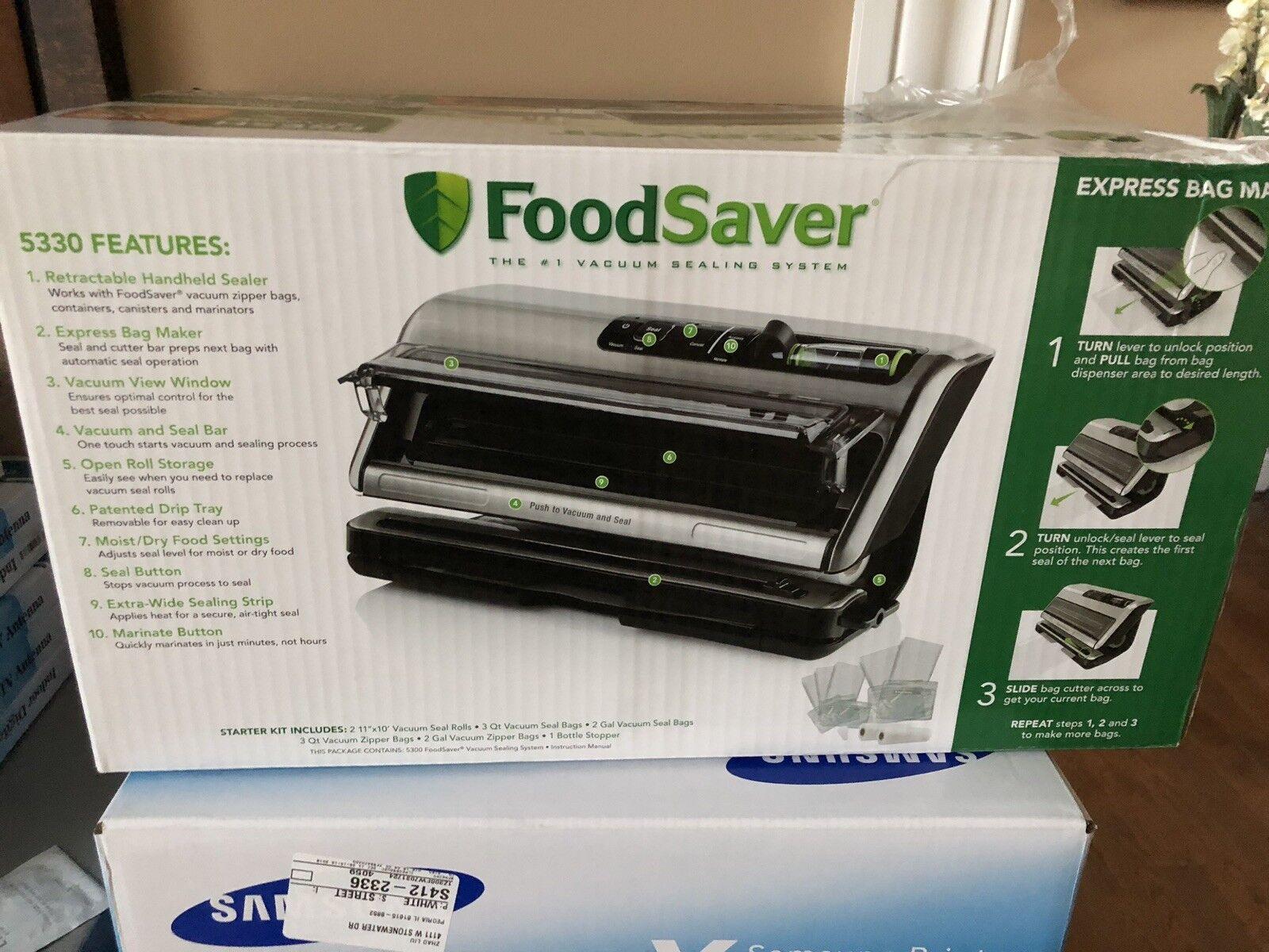 FoodSaver FM5300 1 en 2-Conservation des Aliments Système Avec Starter Kit-Neuf