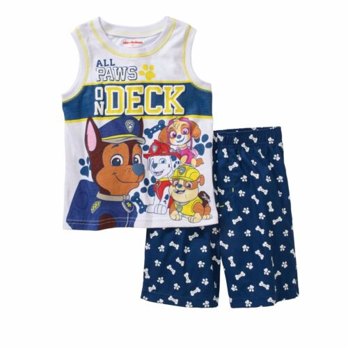 Nickelodeon Paw Patrol Tank Top Shirt Shorts Outfit Set Boy Size 5T