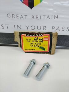 """NOS Vintage 3/8"""" Cotter Pins UK Made by Belvin (2) One Pair"""