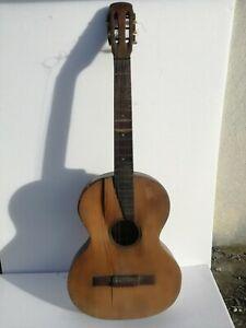 Chitarra-classica-d-039-epoca-museale-Ettore-Bocciolini-6-corde-1930-noce-abete