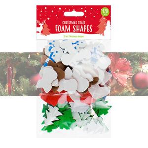 120 X Noël Craft mousse Formes Enfants À faire soi-même Fabrication Carte Flocons De Neige Renne-afficher le titre d`origine dhaSuiZk-07185044-630963782