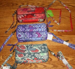 reputable site 6fe34 abffa Details about Vera Bradley ALL IN ONE CROSSBODY WRISTLET iPhone 6+ PLUS  iPhone 7+ iPhone 8+
