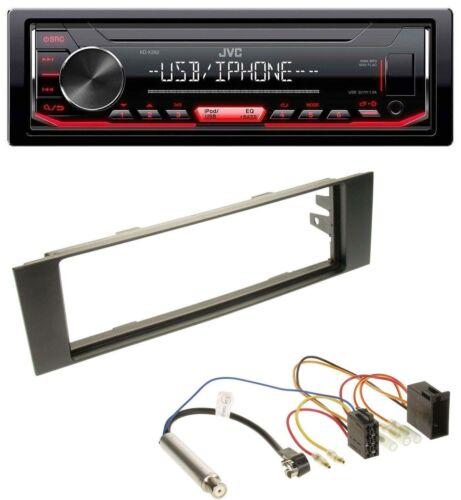 ISO 8P, 03-06 JVC 1DIN AUX USB MP3 Autoradio für Audi A3