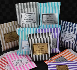 100-Personalised-Wedding-Favour-Sweet-Birthday-Candy-Cart-Bags-Striped