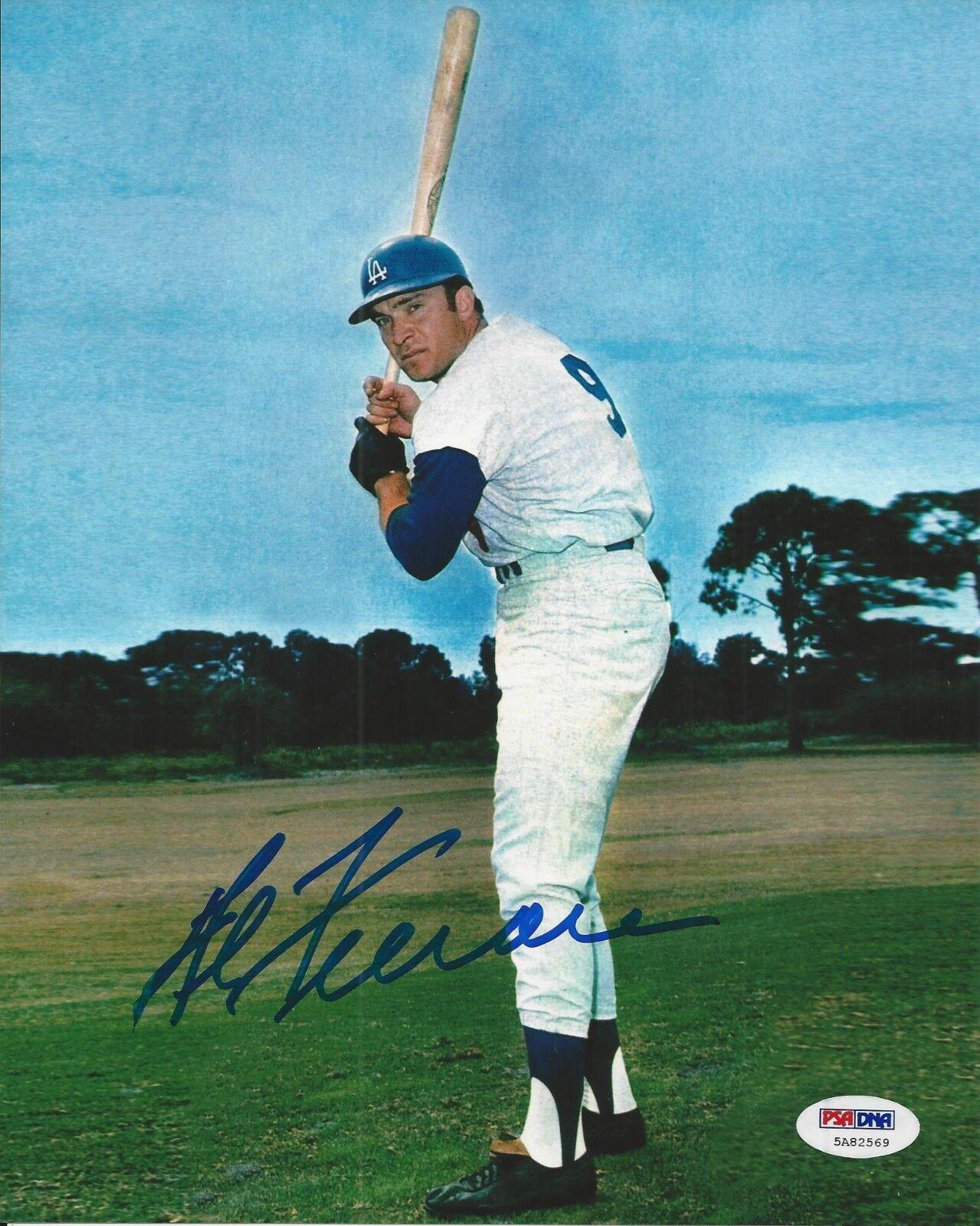 Al Ferrara signed Los Angeles Dodgers 8x10 photo PSA/DNA COA#5A82569