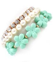 Mint Flower Bracelets