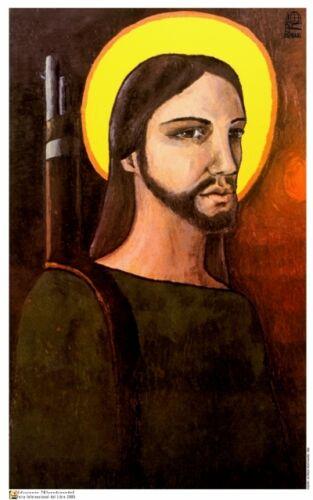 Political POSTER.CRISTO Armed Guerrilla Rebel.Christ Socialist Cold War art.ot1