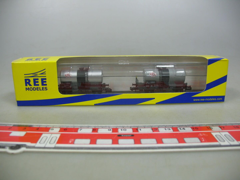 AI43-0,5   Ree Scala N / Dc NW-009 Set Merci Vagone Cisterna Sgtl SNCF,Nuovo +