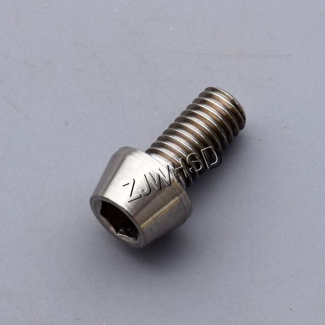 M5 x 10 Titanium Ti Screw Bolt Allen Hex Taper Socket Cap Head / Aerospace Grade