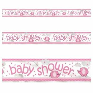 3-65M-Pink-Baby-Shower-Holographic-Foil-Banner-Party-Decorations-Party-Supply