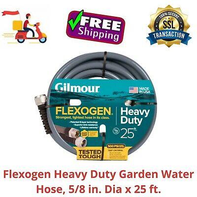 Dia x 50 ft Up to 500PSI Gray Flexogen Heavy Duty Garden Water Hose 5//8 in