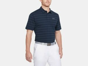 Under-Armour-CC-Scramble-Strip-Polo-Academy-Blue-Men-039-s-XXL-1306127-408